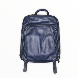 Osgoode Marley Cashmere Leather Backpack Blue